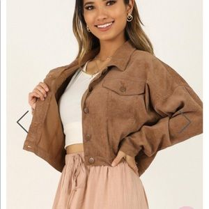 SHOWPO Brown jacket worn once for picture